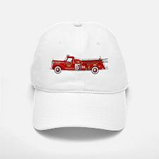 Fire Truck - Vintage fire truck. Baseball Baseball Cap