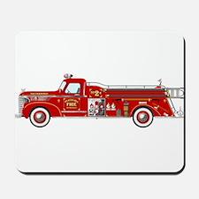 Fire Truck - Vintage fire truck. Mousepad