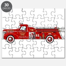 Fire Truck - Vintage fire truck. Puzzle