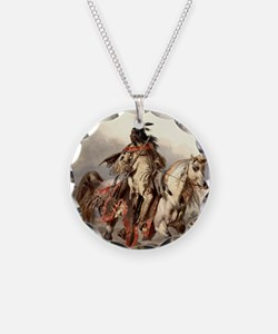 Cute American indian horse Necklace