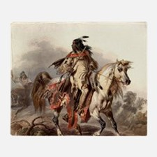 Cute Apache indian Throw Blanket
