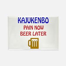 Kajukenbo Pain Now Beer Later Rectangle Magnet