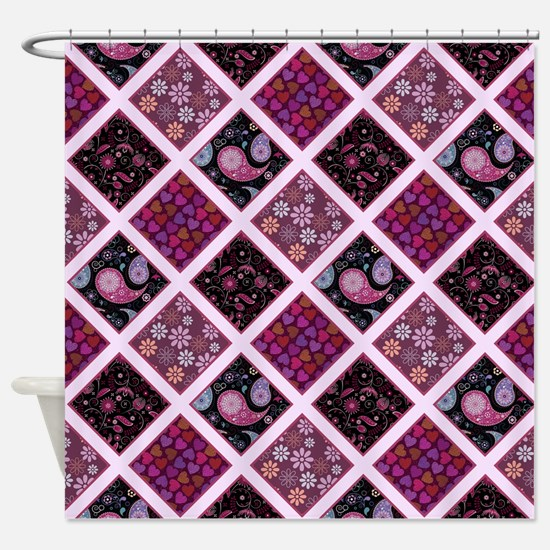 CRAZY QUILT Shower Curtain