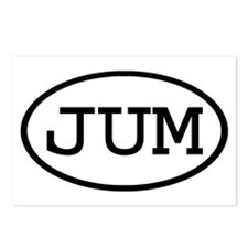 JUM Oval Postcards (Package of 8)