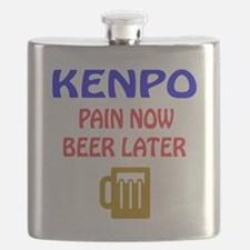 Kenpo Pain Now Beer Later Flask