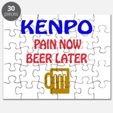 Kenpo Pain Now Beer Later Puzzle