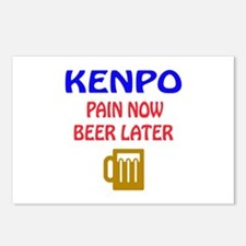 Kenpo Pain Now Beer Later Postcards (Package of 8)