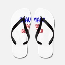Krav Maga Pain Now Beer Later Flip Flops