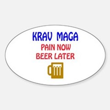 Krav Maga Pain Now Beer Later Decal