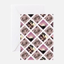 CRAZY QUILT Greeting Card