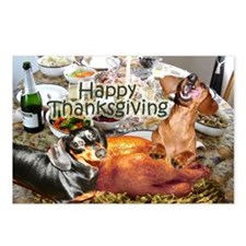 Happy Thanksgiving Dachshund Dogs Postcards (Pack