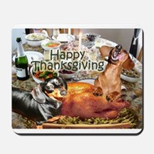 Happy Thanksgiving Dachshund Dogs Mousepad