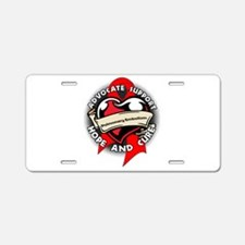 Pulmonary Embolism Support Aluminum License Plate