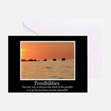 Possibilities Sunset Greeting Card