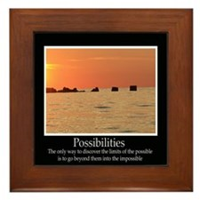 Possibilities Sunset Framed Tile