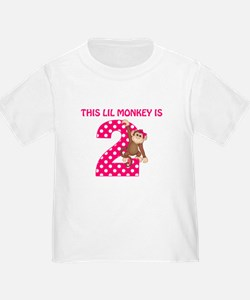 2nd Birthday Monkey Girl T-Shirt