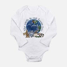Cute Earth day Long Sleeve Infant Bodysuit