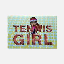 Tennis Girl Rectangle Magnet
