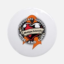 Multiple Sclerosis Support Round Ornament