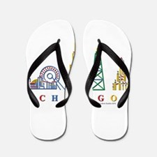 Chicago Skyline Flip Flops