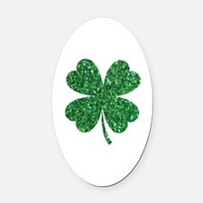 Unique Shamrock Oval Car Magnet