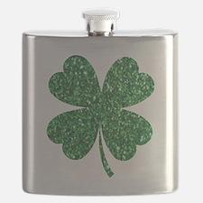 Cute Shamrock Flask