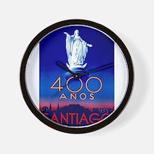 Vintage poster - Santiago Wall Clock