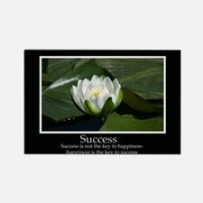 Success Water Lily Rectangle Magnet