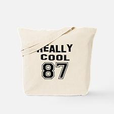 Really Cool 87 Birthday Tote Bag