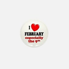 February 9th Mini Button (10 pack)