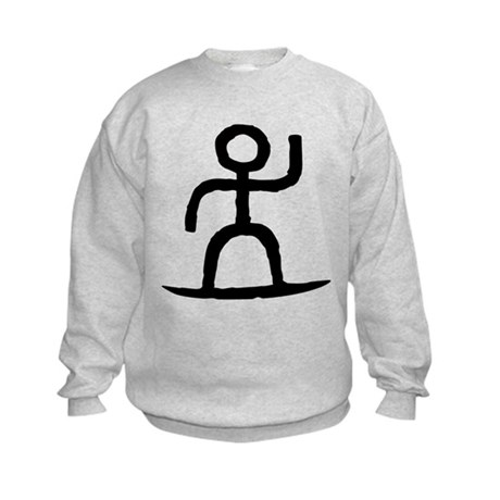 Surfer Pictograph Kids Sweatshirt