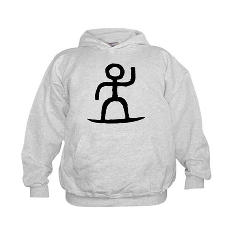 Surfer Pictograph Kids Hoodie