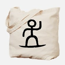 Surfer Pictograph Tote Bag