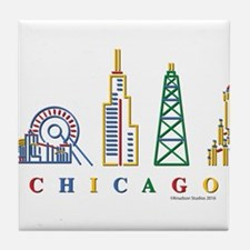 Chicago Skyline Tile Coaster