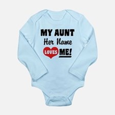 My Aunt loves Me Perso Long Sleeve Infant Bodysuit