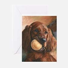 Cute Irish setter Greeting Cards (Pk of 10)