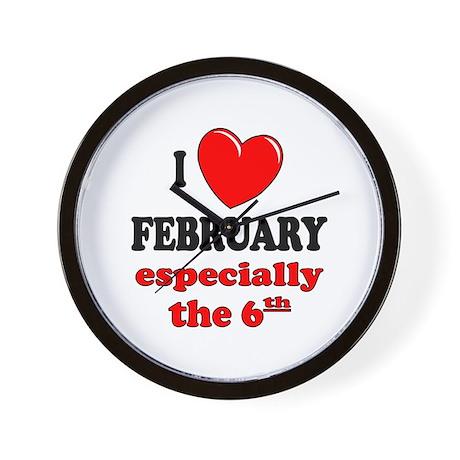 February 6th Wall Clock