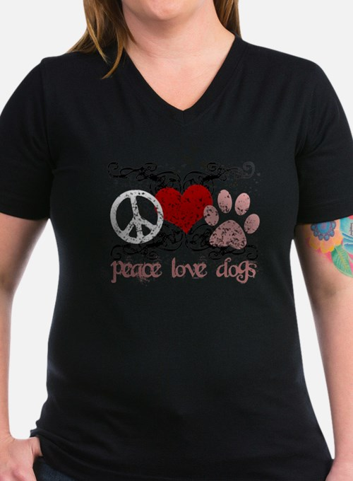 Cute Peace love dogs Shirt