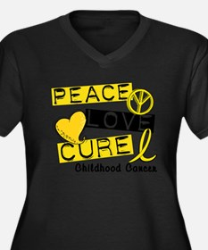 Unique Childhood cancer awareness Women's Plus Size V-Neck Dark T-Shirt