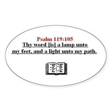 Scripture from the Bible, say Oval Decal