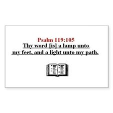 Scripture from the Bible, say Sticker (Rectangular