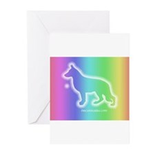 Cute Rainbow bridge sympathy labrador Greeting Cards (Pk of 20)