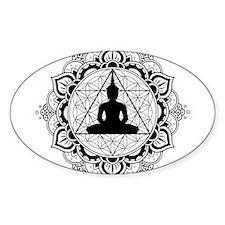 Buddha Meditating Sacred Geometry Mandala Decal