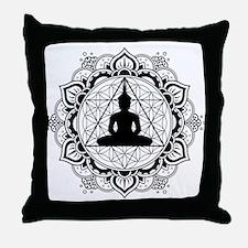 Buddha Meditating Sacred Geometry Mandala Throw Pi