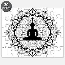 Buddha Meditating Sacred Geometry Mandala Puzzle