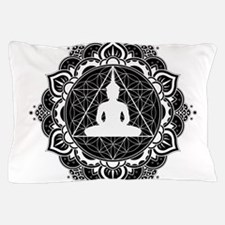 Buddha Meditating Sacred Geometry Mandala Pillow C