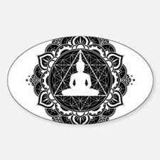 Buddha Meditating Sacred Geometry Mandala Stickers