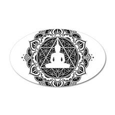 Buddha Meditating Sacred Geometry Mandala Wall Dec