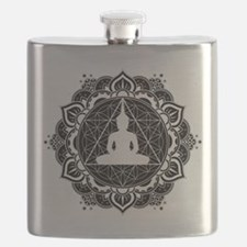 Buddha Meditating Sacred Geometry Mandala Flask