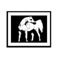 AFTM Arabian Grey Stallion2 Framed Panel Print